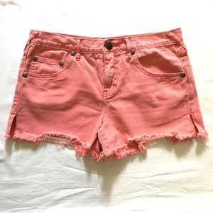 FREE PEOPLE Shorts Distressed Cutoff SIZE 28
